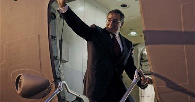 Panetta becomes first defense chief to visit Libya
